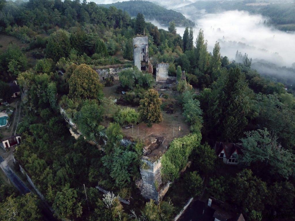 Forteresse Miremont Dordogne vue du ciel